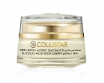 Collistar Pure Actives Glycolic Acid Rich Cream, Näokreem glükoolhappega