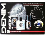 Denim Black: After Shave, 100 ml + Deodorant spray, 150 ml, Gloves . touch screen