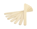 Wooden spatula for wax application.
