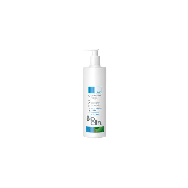 BIOCLIN A-TOPIC CLEANSING GEL MOISTURIZING AND SOOTHING, Puhastusgeel kuivale  ja atoopilisele nahale