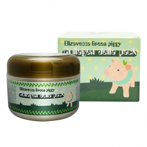 Elizavecca Green Piggy Collagen Jella Pack Pig Mask for Wrinkles Intense Hydration 100 g.jpg