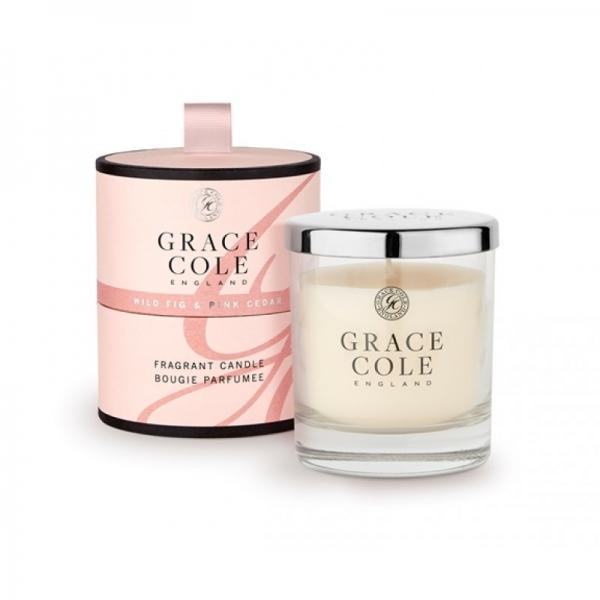Grace Cole lõhnaküünal viigimari ja roosa seeder 200g.jpg