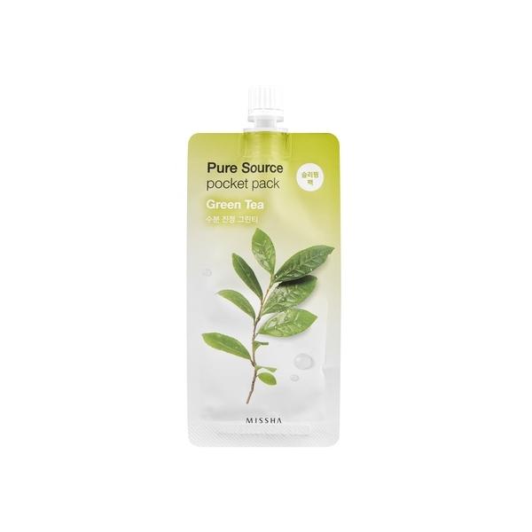MISSHA Pure Source Pocket Pack mask Roheline tee.jpg