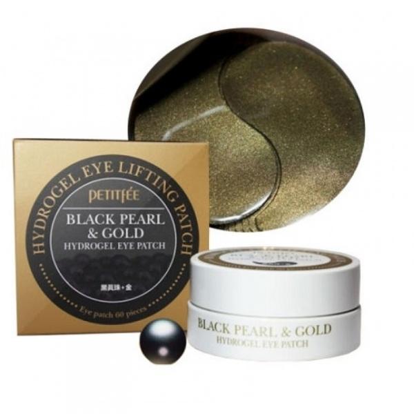 Petitfee Black Pearl & Gold Hydrogel Eye Patch Silmapadjad   60 tk (30 kasutuskorraks).jpg