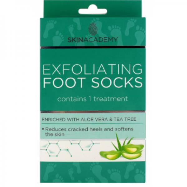 Skin Academy Exfoliating Foot Socks – Aloe Vera & Tea Tree.png