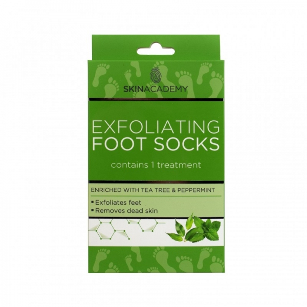 Skin Academy Exfoliating Foot Socks - Tea Tree & Peppermint.jpg