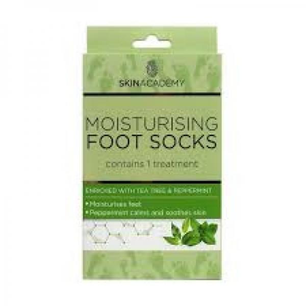 Skin Academy Foot Socks Moisturising, Tea Tree & Peppermint, 1 Pair.jpg