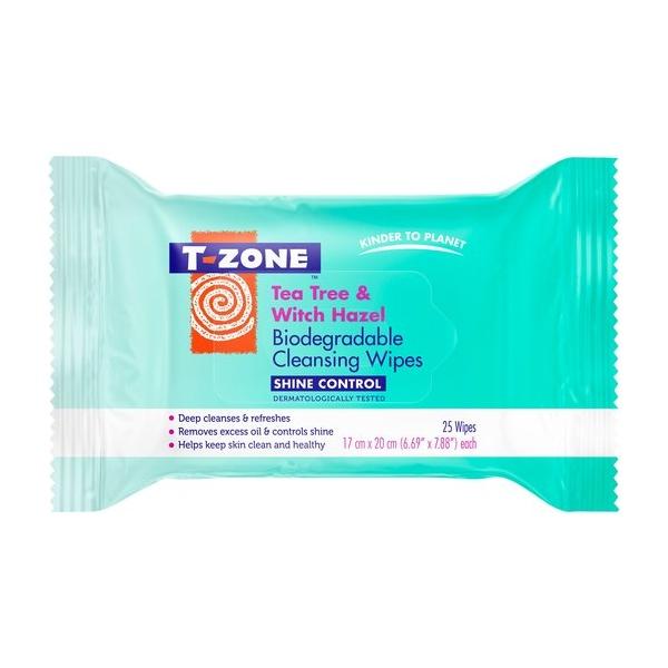 T-Zone Tea Tree & Witch Hazel Shine Control Cleansing Wipes 25.jpeg