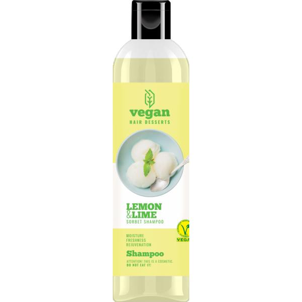Vegan Desserts Niisutav ja värskendav šampoon sidruni ja laimi ekstraktidega 300ml.png