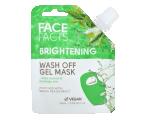 Face Facts Wash Off Mask Brightening, Jumet parandav geelmask roheline tee 60ml