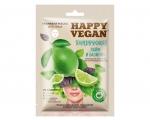 """FitoCosmetic Kangasmask näole """"Happy Vegan"""" """"Laim ja Basiilik"""