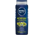 NIVEA MEN Energy Shower Gel  3 in 1 Body Wash 250ml