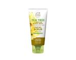 Petal Fresh Tea Tree & African Black Soap Facial Scrub 200ml, Sügavpuhastav ja nahka kooriv  näopesugeel