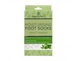 Skin Academy Foot Socks Moisturising, Tea Tree & Peppermint, 1 Pair, Niisutavad sokid teepuu ja piparmünt